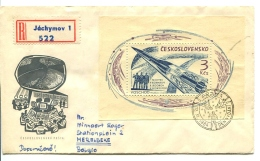 1964 FDC  LETTER REGISTERED  From Jàchymov  To Belgium (Merelbeke) _  SEE SCAN ! - Checoslovaquia