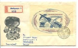1964 FDC  LETTER REGISTERED  From Jàchymov  To Belgium (Merelbeke) _  SEE SCAN ! - Tsjechoslowakije