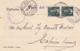 7895-CARTOLINA DEL COMUNE DI TORRI DEL BENACO(VERONA) PER CAPRINO VERONESE-1935 - 1900-44 Victor Emmanuel III