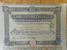 Banque ALSACIENNE De PARIS - Banca & Assicurazione