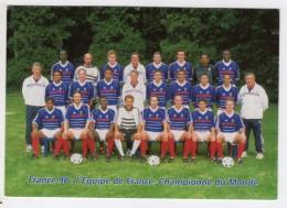TIMBRE - FRANCE - SERIE OFFICIELLE FRANCE 1998 COUPE DU MONDE - EQUIPE DE FRANCE DE FOOTBALL - CARTE POSTALE PREPAYE - Chine