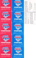 7 Tickets Festival Rouge Et Bleu ESSO 5 De Face 1 De Dos Esso Service Lamartine Paris 16ème - Publicités