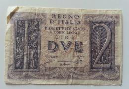 ITALIA 2 LIRE IMPERO - [ 1] …-1946 : Koninkrijk