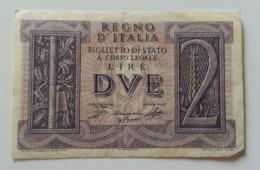 ITALIA 2 LIRE IMPERO - Italia – 2 Lire