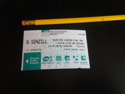 Ticket De METRO BUS TRAMWAY - BARCELONE - Métro