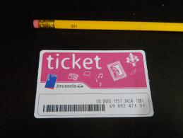 Ticket De METRO BUS TRAMWAY - BRUXELLES - Métro