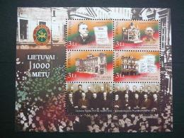Lietuva Litauen Lituanie Litouwen Lithuania 2007 MNH # Mi. 937/0 Block 34 Millennium Of Lithuania. - Lituanie
