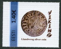 RARE !!! ESTONIA ESTLAND My Stamp Meine Marke Personalisierte Briefmarke Viking Llandwrog Silver Coin 2016 MNH - Archaeology