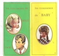 Rare Poupées Les Trousseaux De Mily Et Jacky Les Trousseaux De BABY Dépliant GéGé Montbrisson Des Années 1960 - Poupées