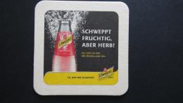Germany - Krombacher Brauerei/Schweppes - Schweppt Fruchtig, Aber Herb!/Tu,was Dir Schweppt - Kreuztal/Krombach-N-W - Bierdeckel