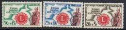 1962 Cameroun Cameroon Leprosy Lions International Organisation Medical Doctor Complete Set Of 3 MNH - Kameroen (1960-...)
