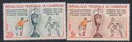 1965 Cameroun Cameroon Football Africa Cup Complete Set Of 2 MNH - Kameroen (1960-...)
