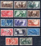 1932, 10e Anniversaire De La Marche Sur Rome, YT 305 - 317 + 319, Oblitéré, Lot 45174 - Usati