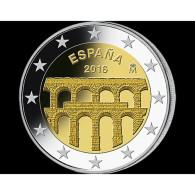 2 EURO COMMEMORATIVE SPAGNA ESPAGNE SPAIN 2016 SEGOVIA - Espagne