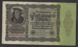 50000 MARK 1922 GERMANY  Banconota - [ 3] 1918-1933 : Weimar Republic