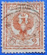 ITALY ITALIA 2 Cmi.1901 COAT OF ARMS Mic.75 - USED - Gebraucht