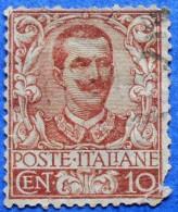 ITALY ITALIA 10 Cmi.1901 VITTORIO EMANUELE III Mic.77  - USED - Gebraucht