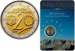 2 EURO COMMEMORATIVE ANDORRA ANDORRE 2014 CONSIGLIO EUROPA CONSEIL EUROPE BLISTER - Andorre