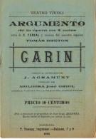17789. Programa Opera Teatro GARIN De Fereal Y Musica Tomas Breton. Barcelona 1893 - Programas