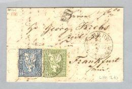 Schweiz Heimat BE Bern 1865-03-04 Brief Zu#31+34 Nach Frankfurt - Briefe U. Dokumente