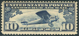 USA 1927. Michel #306-A MNH/Luxe. Airplanes (Ts27) - Air Mail