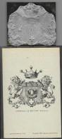 Armoiries CPA + Matrice Imprimeur D´HERTAULT DE BEAUFORT (Languedoc) (Delatour Cercoux) - Genealogie