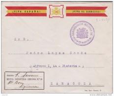GUERRA CIVIL, SIGUENZA A ZARAGOZA, MARCA DE LA COMANDANCIA MILITAR DE SIGUENZA, RARA - 1931-50 Storia Postale