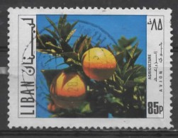LEBANON 1971 Air. 85p. - Oranges  FU - Libanon