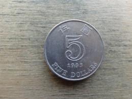 Hong Kong  5  Dollars  1993  Km 65 - Hong Kong