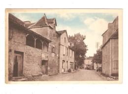 CPA 46 LAUZES Grande Rue Maisons Viture - Unclassified