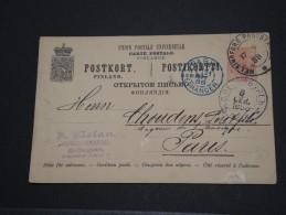 FINLANDE - Entier Pour Paris - Sept 1888 - A Voir - P17755 - Finlandia