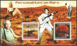 KYRGYZSTAN 2003 FILMS FILMSTARS SPACE GOLF PERSONALITIES ON MARS ELVIS MNH - Elvis Presley