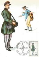 CARTE MAXIMUM (MAXIMUM CARD) JOURNEE DU TIMBRE GUEBWILLER (HAUT RHIN) 1967 - Maximumkarten