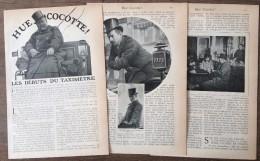 ANCIEN DOCUMENT TAXI LES DEBUTS DU TAXIMETRE HUE COCOTTE L HEURE DE LA MANILLE - Vieux Papiers