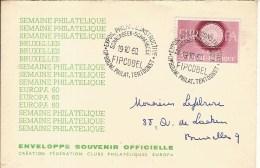 SCHAERBEEK-FIPCOBEL-EXPOSITION PHILATELIQUE CONSTRUCTIVE1960 - Expositions Philatéliques