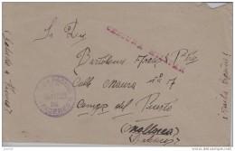 GUERRA CIVIL - DEL FRENTE A CAMPOS DEL PUERTO (PALMA DE MALLORCA) CENSURA - 1931-50 Brieven