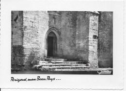 Format CPSM 24 Belves,vieille église - Advertising