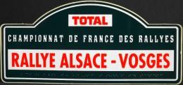 ETIQUETTE Publicitaire Autocollante Pour TOTAL - Rallye Alsace - Vosges - Parfait état - - Autocollants