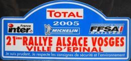 ETIQUETTE Publicitaire Autocollante Pour TOTAL 2005 - 21e Rallye Alsace - Vosges - Ville D'Epinal - Parfait état - - Stickers