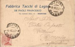 (C).Mestre(VE).Cartolina Commerciale Pubblicitaria.Viaggiata Il 7 Lug 1924 (88-a16) - Venezia