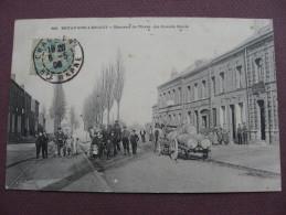 CPA 59 BRUAY SUR L´ESCAUT Hameau De THIERS La Grande Route TOP ANIMEE 1906 Canton ANZIN - Bruay Sur Escaut