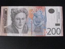BILLETE DE SERBIA DE 200 DINARA DEL AÑO 2013 (BANKNOTE) - Serbia