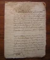 Dauphiné 1733 Procuration De Pierre Ollivier, Cavalier Des Régiments Du Roy, Partant Pour La Basse Normandie - Manuscrits