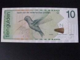 BILLETE DE NEDERLANDSE ANTILLEN DE 10 GULDEN  DEL AÑO 1998 SIN CIRCULAR-UNCIRCULATED  (BANKNOTE) BIRD-PAJARO-COLIBRI - Antillas Neerlandesas (...-1986)