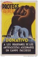 GUERRA CIVIL, TARJETA POSTAL CIRCULADA A BARCELONA, MARCA DEL EJERCITI POPULAR, RARA - 1931-Aujourd'hui: II. République - ....Juan Carlos I