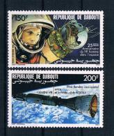Dschibuti 1986 Raumfahrt Mi.Nr. 480/81 Kpl. Satz ** - Dschibuti (1977-...)