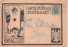Carte Illustrée  5 - 4b Orval - Oblitération Liège - Entiers Postaux