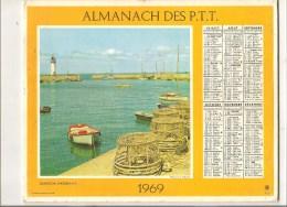 Almanach Des PTT De 1969 Département De Haute Loire (43) Cassis  (BOUCHES DU RHONE) Quiberon (MORBIHAN) - Calendars
