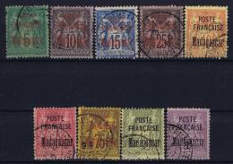 Madagascar: Yv Nr 14 - 22 Obl. / Used / Gestempelt.   1895 Some Signed/ Signé/signiert - Madagascar (1889-1960)