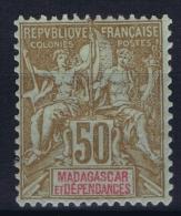 Madagascar: Yv Nr 47   MH/* Falz/ Charniere 1896 - Madagascar (1889-1960)